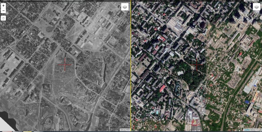 Снимок, благодаря которому исследователи могут найти могилу Александра Поля