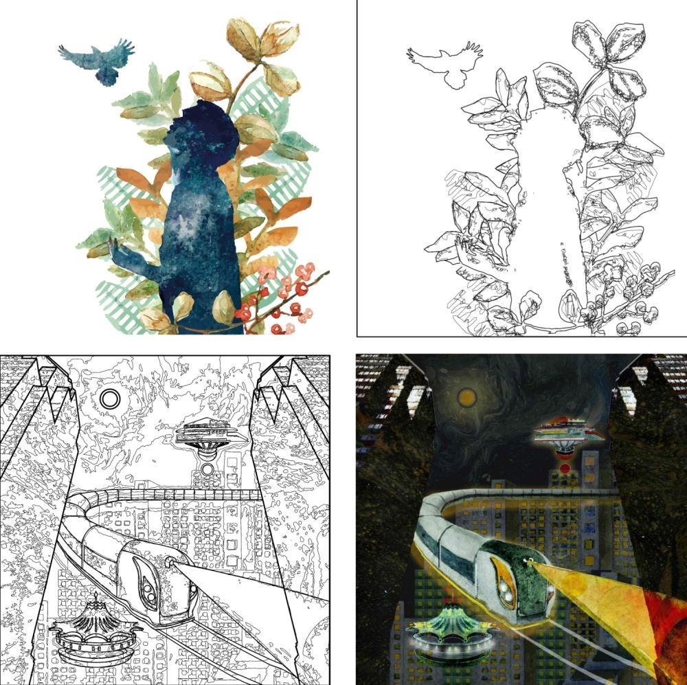 Иллюстрации художницы из Днепра Литы Хейфец, которые превратились в раскраски