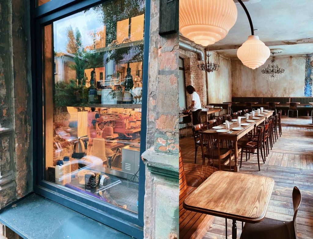 Кафе 19 20: витрина и интерьер
