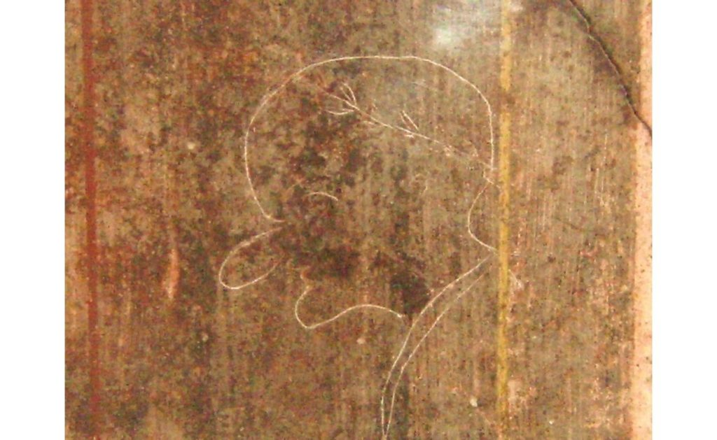 Карикатура на чиновника в Помпеях.