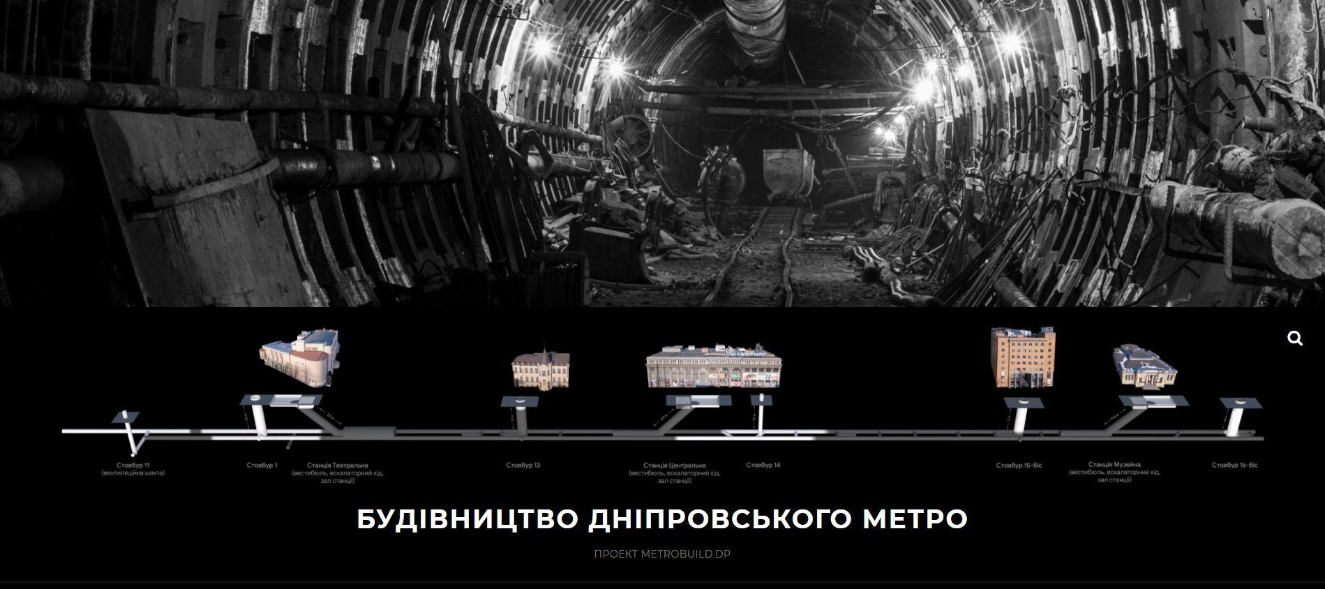 З'явився сайт про будівництво метро у Дніпрі