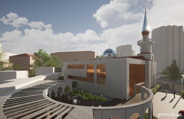 Возле Днепр-Арены реконструируют мечеть