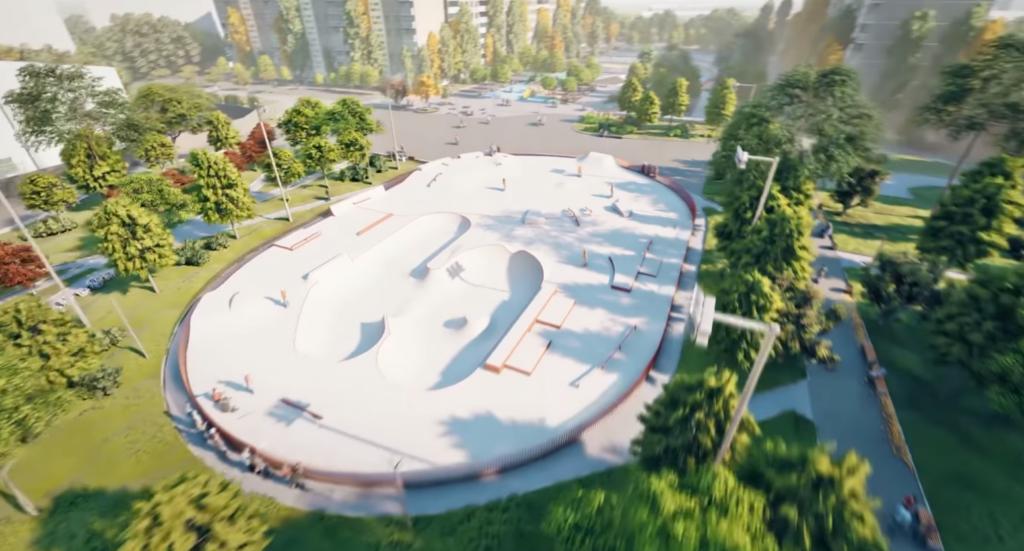 Будущий скейт-парк в сквере Усачева: видео - 1 зображення