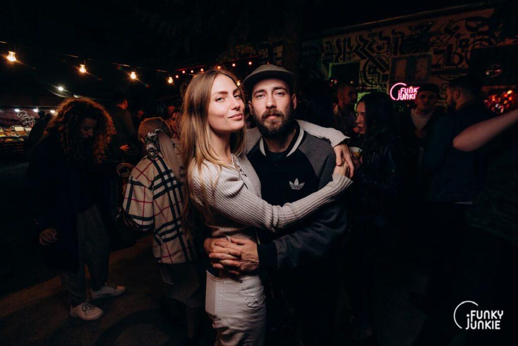 Катя Ковалевская и Тарас Булка на вечеринке Funky Junkie